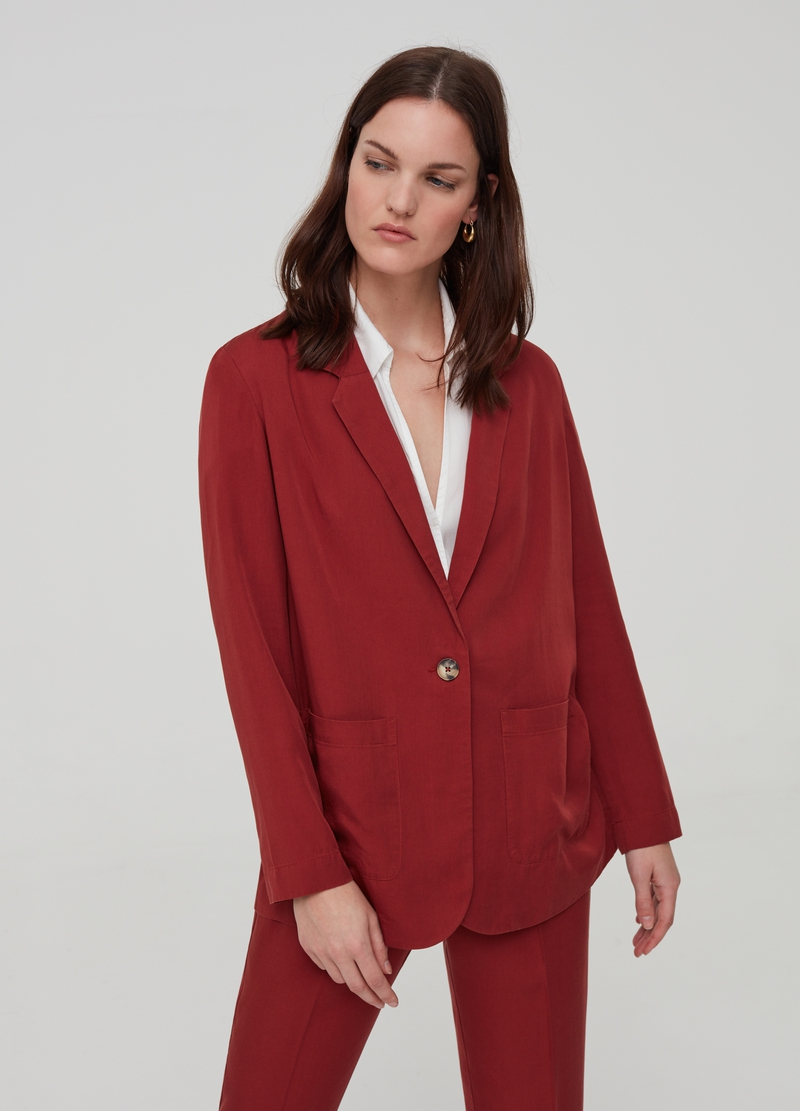 100% Lyocell blazer image number null