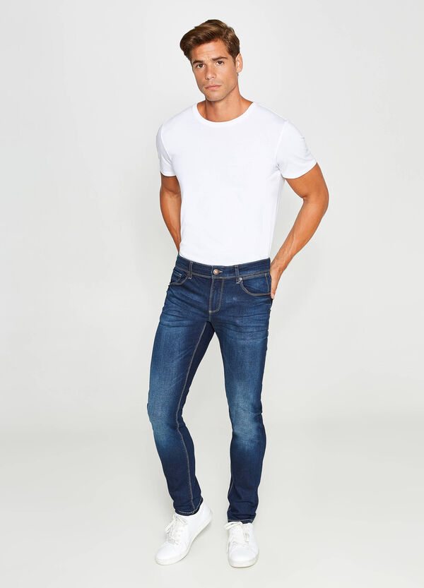 Jeans skinny fit stretch con baffature | OVS