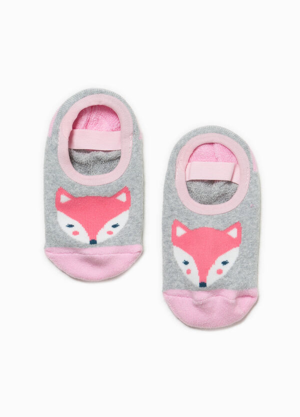 Slipper socks with strap and embroidery | OVS