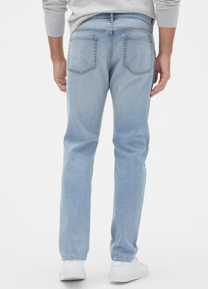 GAP slim taper-fit stretch jeans image number null