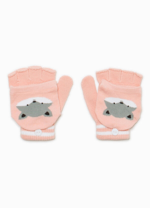 Fingerless gloves with embroidered mittens | OVS