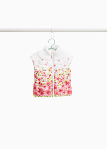 Padded floral gilet with cap sleeves