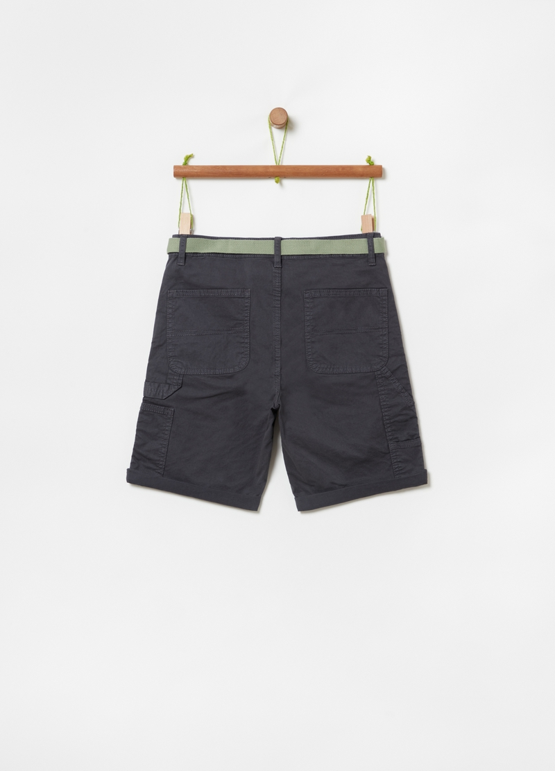 Bermuda shorts with belt and five pockets image number null