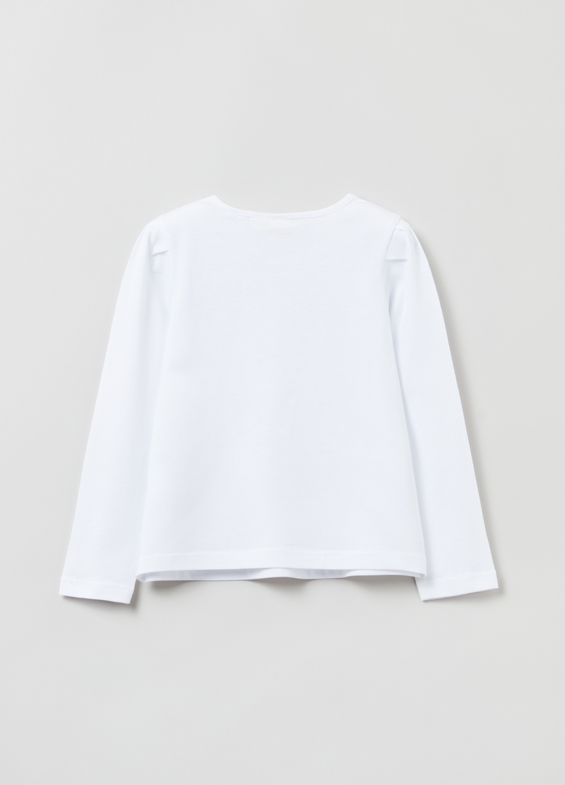T-shirt maniche lunghe con lettering image number null
