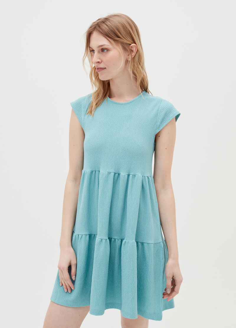 Short dress with flounces image number null