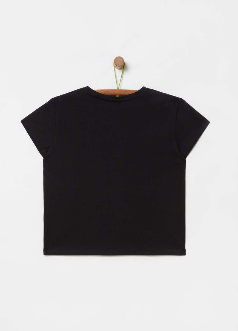 T-shirt with lettering sequins and print image number null