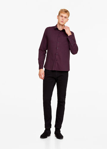 Camicia casual slim fit tinta unita