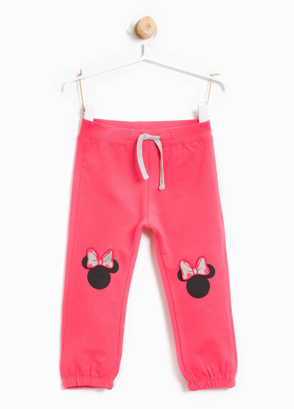 Stretch cotton trousers with Minnie Mouse print