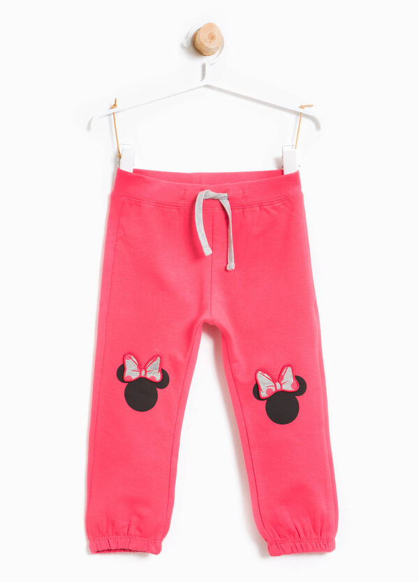 Stretch cotton trousers with Minnie Mouse print | OVS