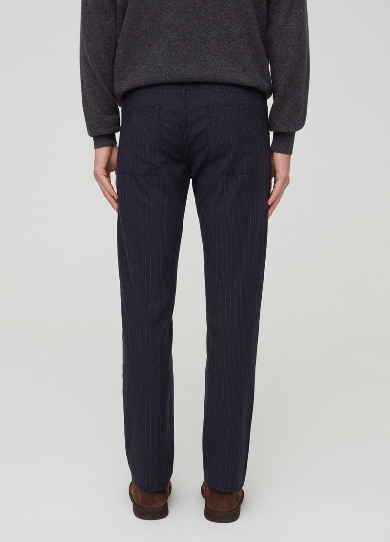 Striped trousers with five pockets image number null