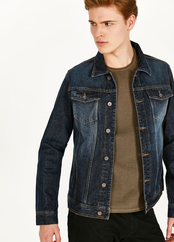 Worn-effect denim jacket