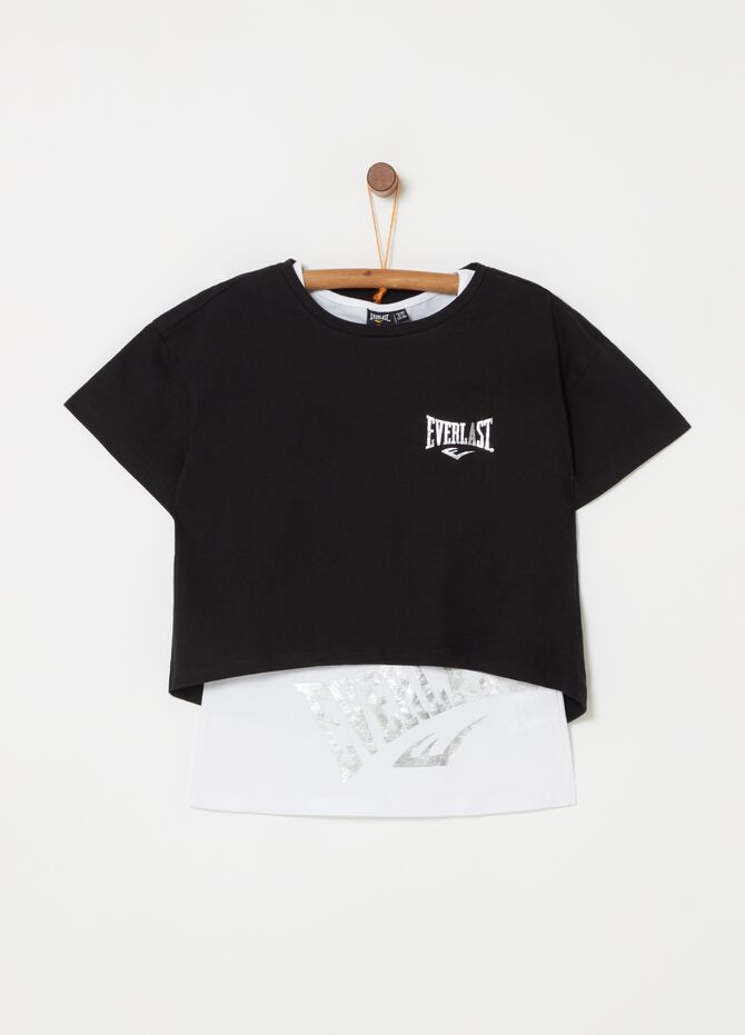 Everlast stretch T-shirt and top set in cotton