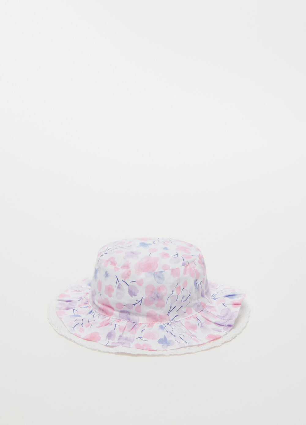 Wide-brimmed reversible hat