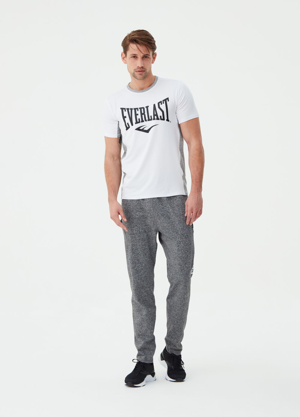 T-shirt stretch con bande Everlast