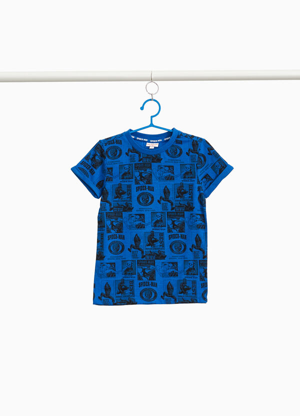 T-shirt cotone stampa Spiderman