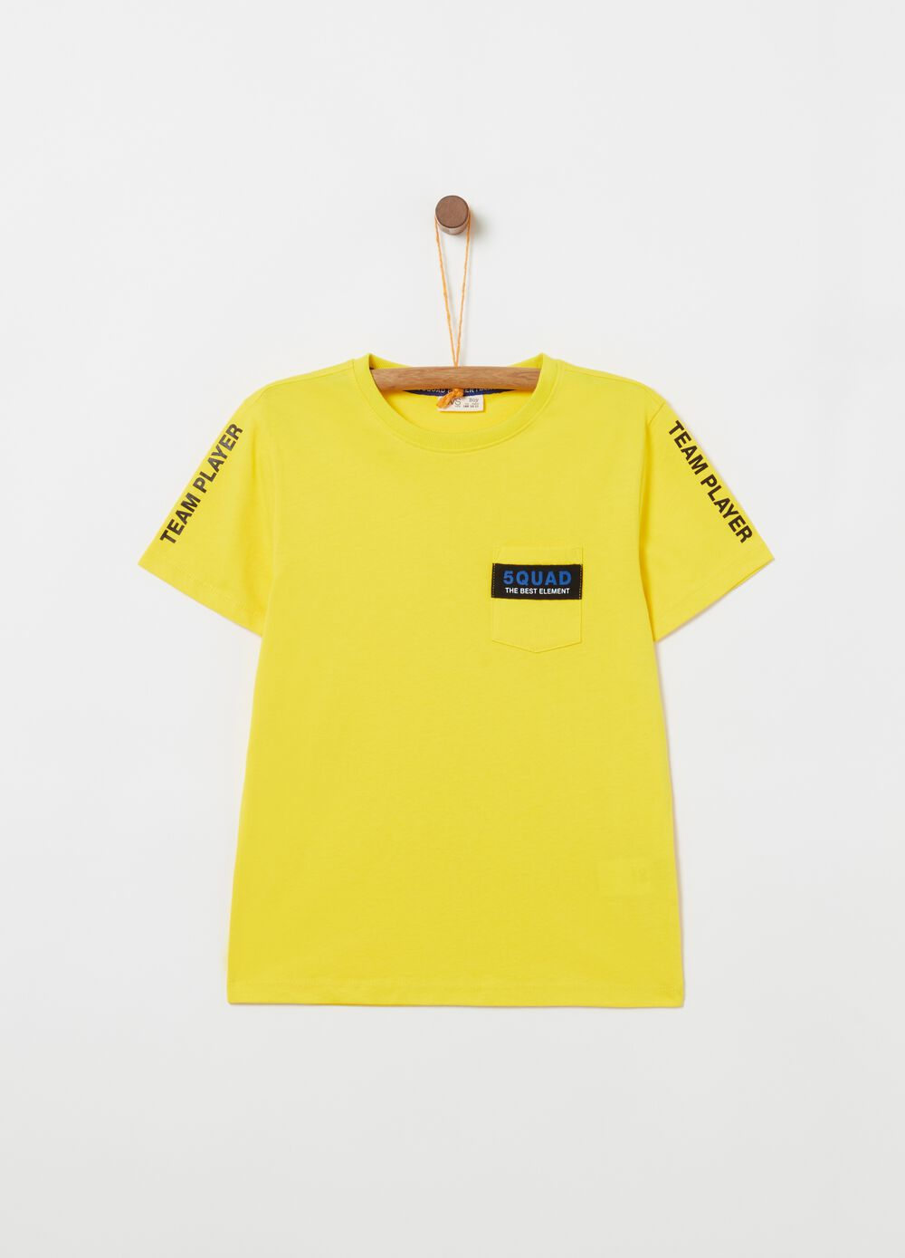 Cotton T-shirt with pocket and print