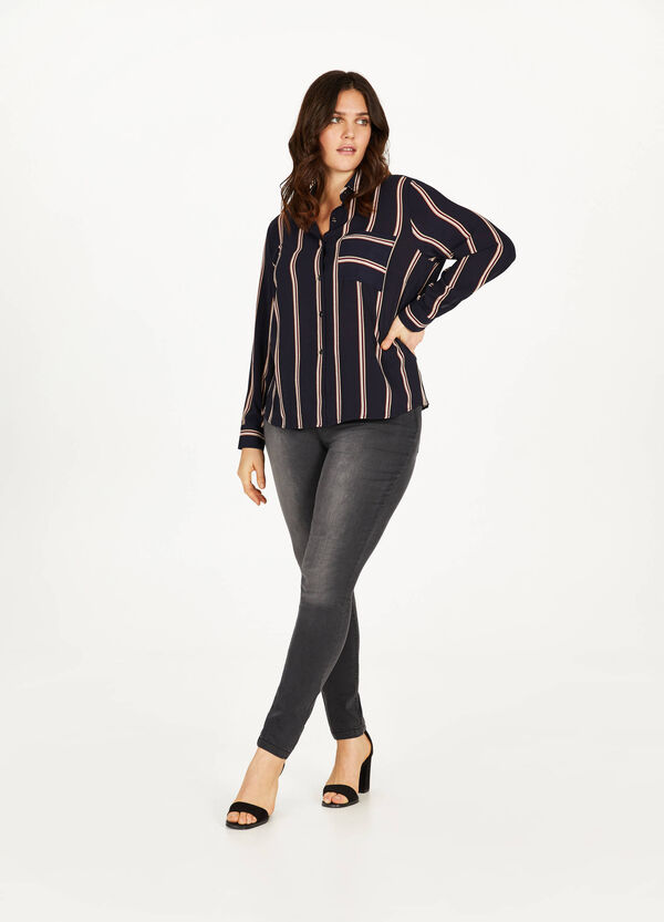 Curvy faded-effect stretch jeggings