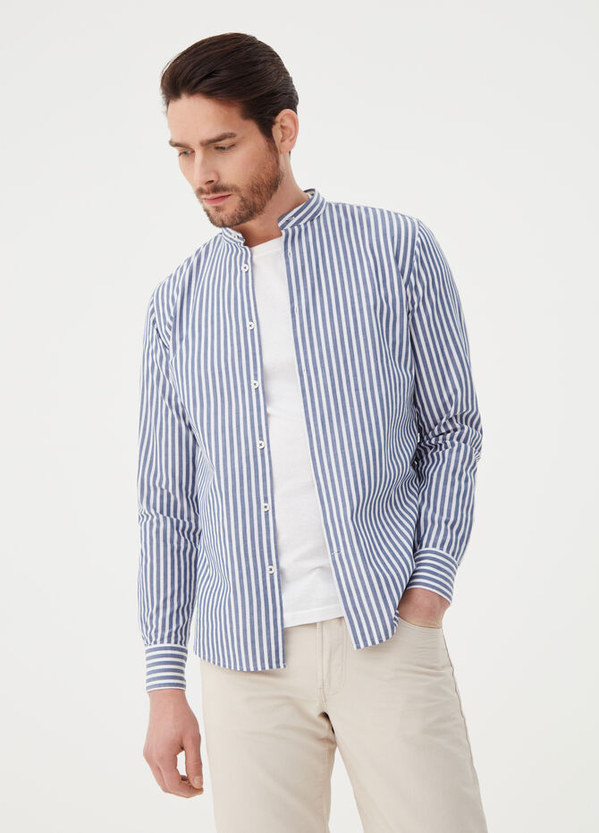Regular-fit shirt with striped pattern