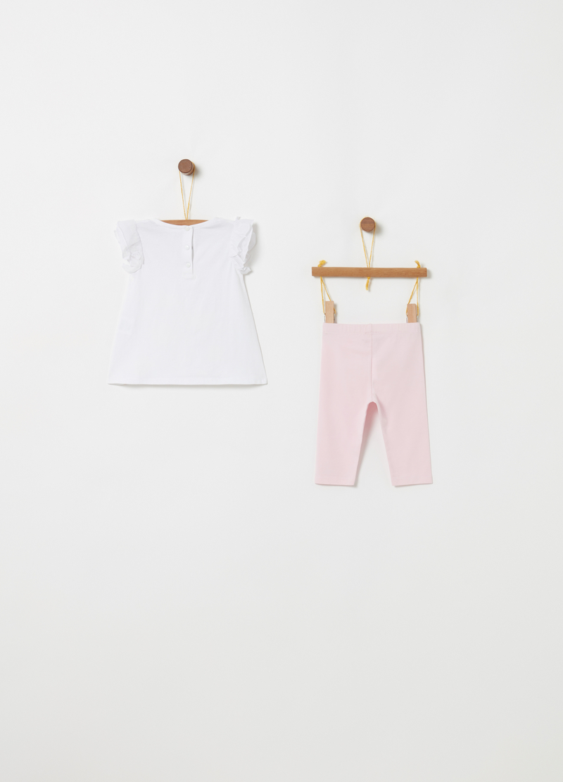 Set t-shirt e leggings in biocotton stretch image number null