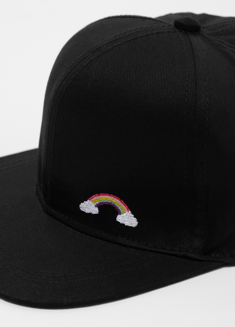 Baseball cap with rainbow embroidery image number null