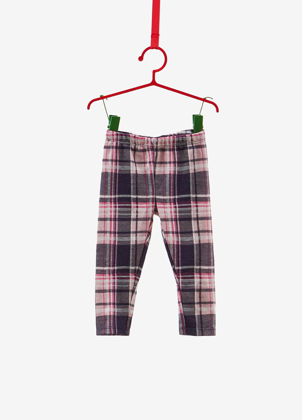Stretch viscose blend tartan leggings