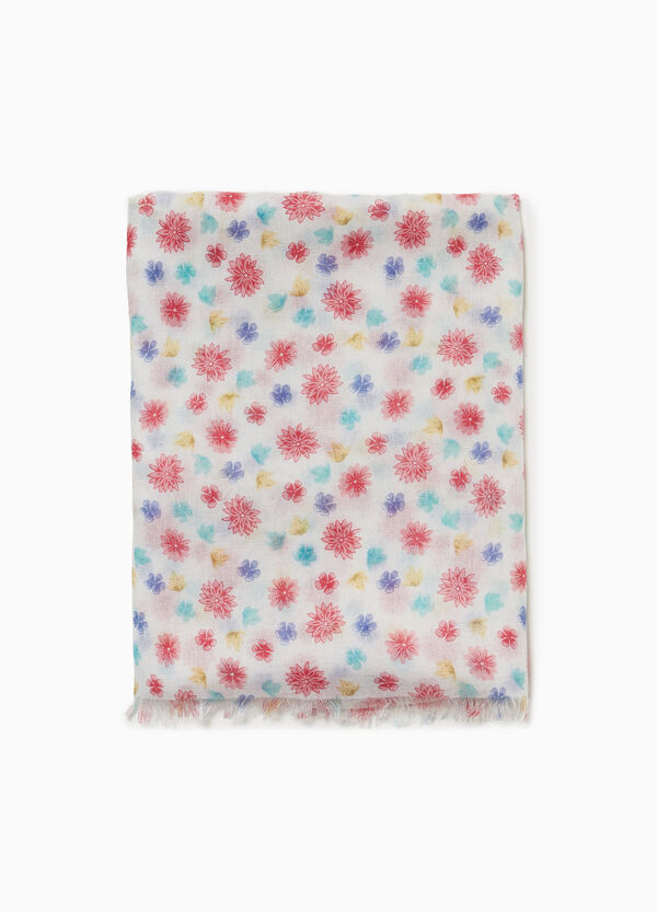 Floral pashmina in 100% viscose