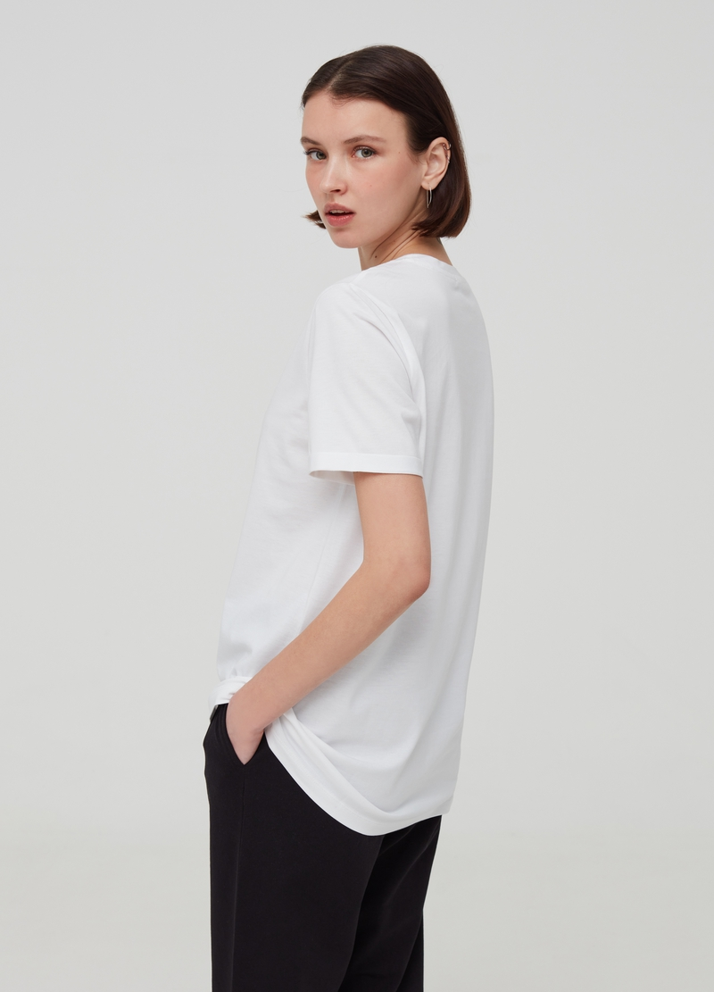 Oversized T-shirt in 100% Pima cotton image number null