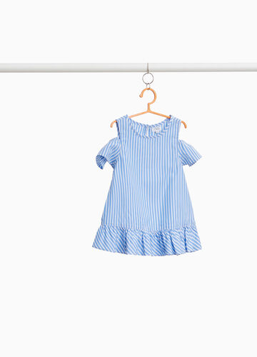 Cotton blend blouse with stripes