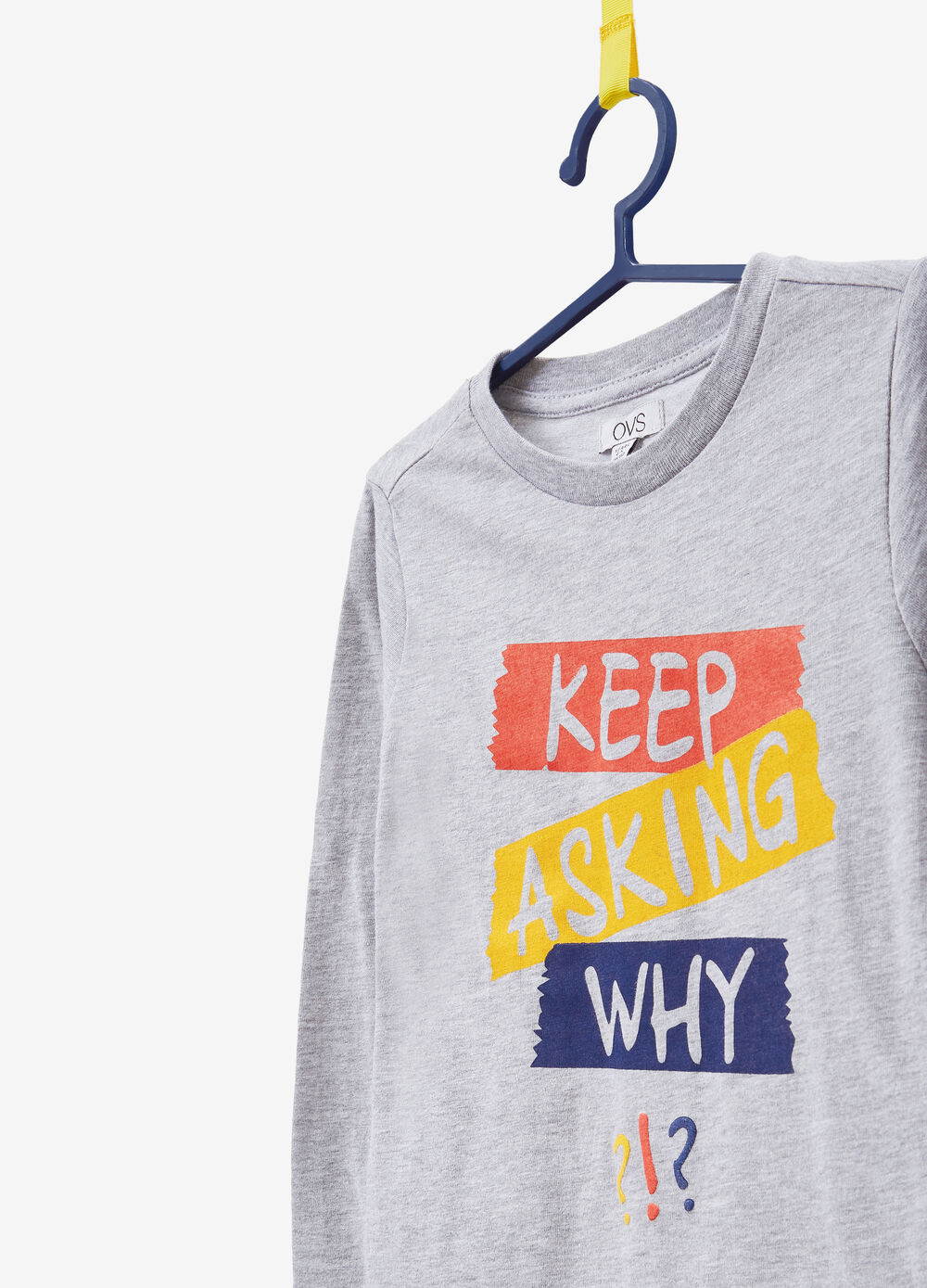 Cotton blend T-shirt with lettering