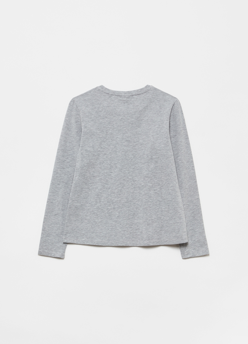 T-shirt cotone stretch stampa glitter image number null