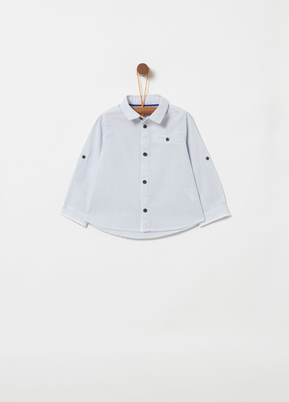 100% cotton shirt with welt pocket