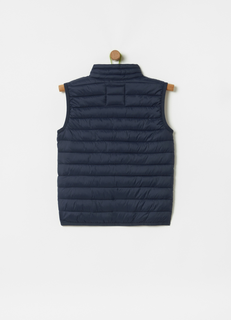 Padded and quilted gilet with high neck image number null