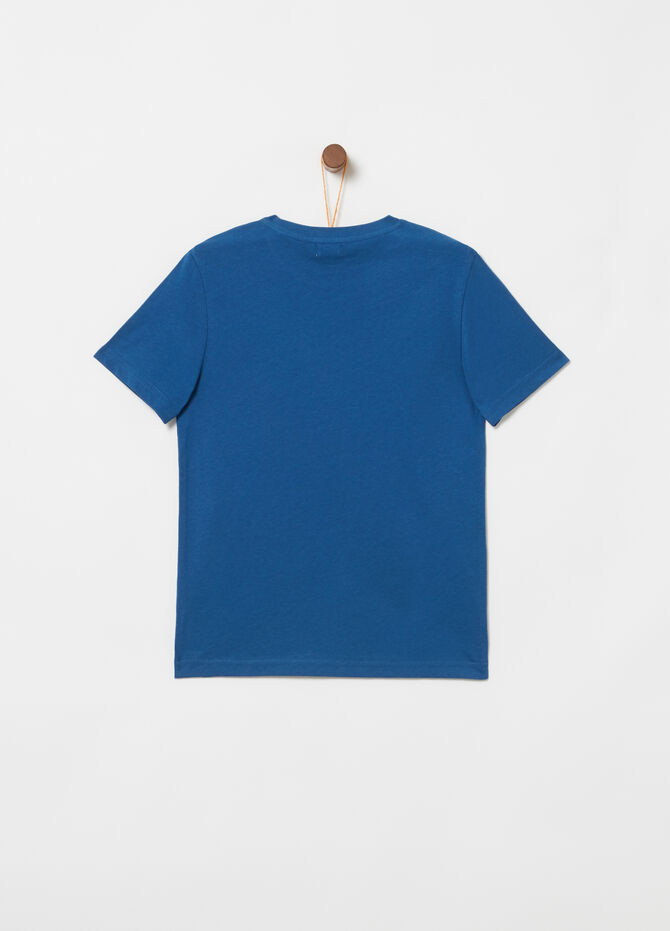 T-shirt in jersey costina e tape stampa