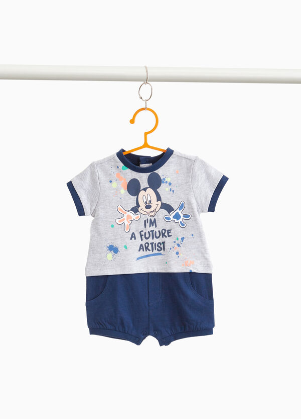 Two-tone Mickey Mouse romper suit