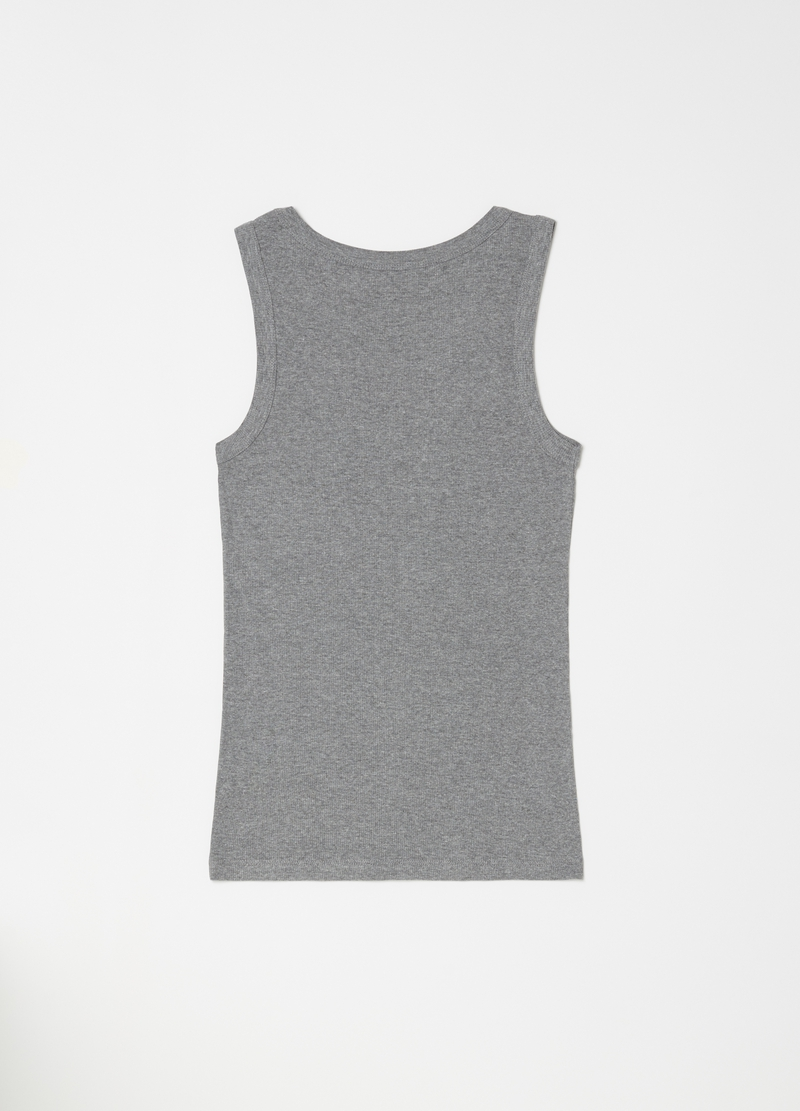 Viscose and cotton mélange racerback top image number null