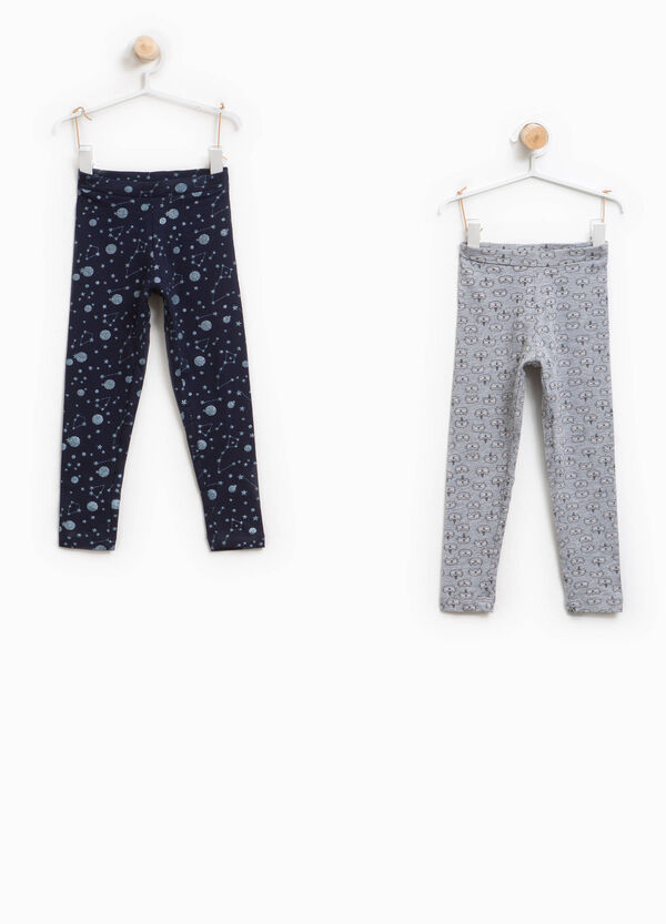 Set due leggings con stampa all-over | OVS