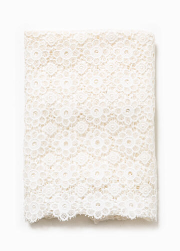 Scarf in 100% cotton lace