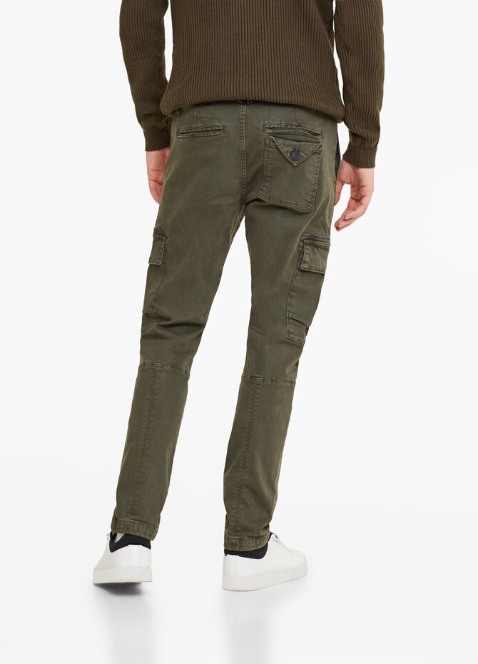 Pantaloni cargo stretch