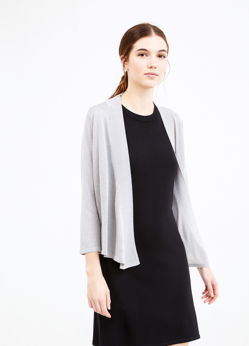 Viscose blend cardigan with lurex image number null