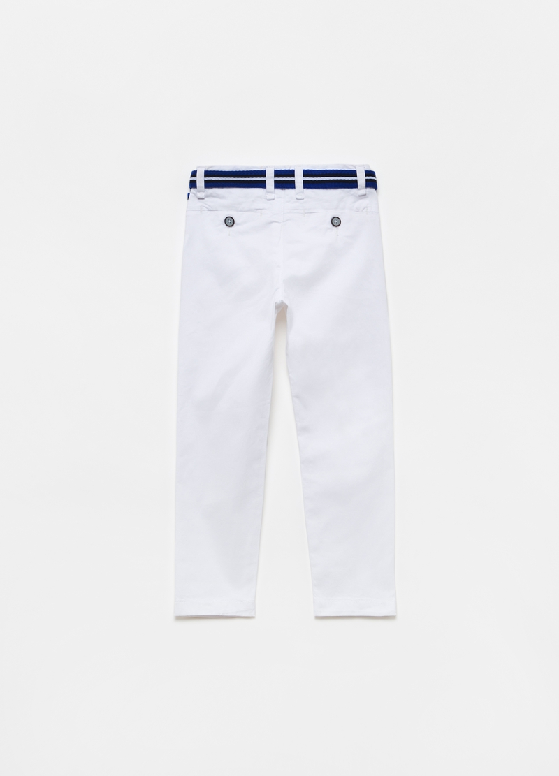 Chino trousers with belt image number null