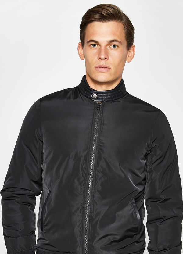 Solid colour bomber jacket with high neck | OVS