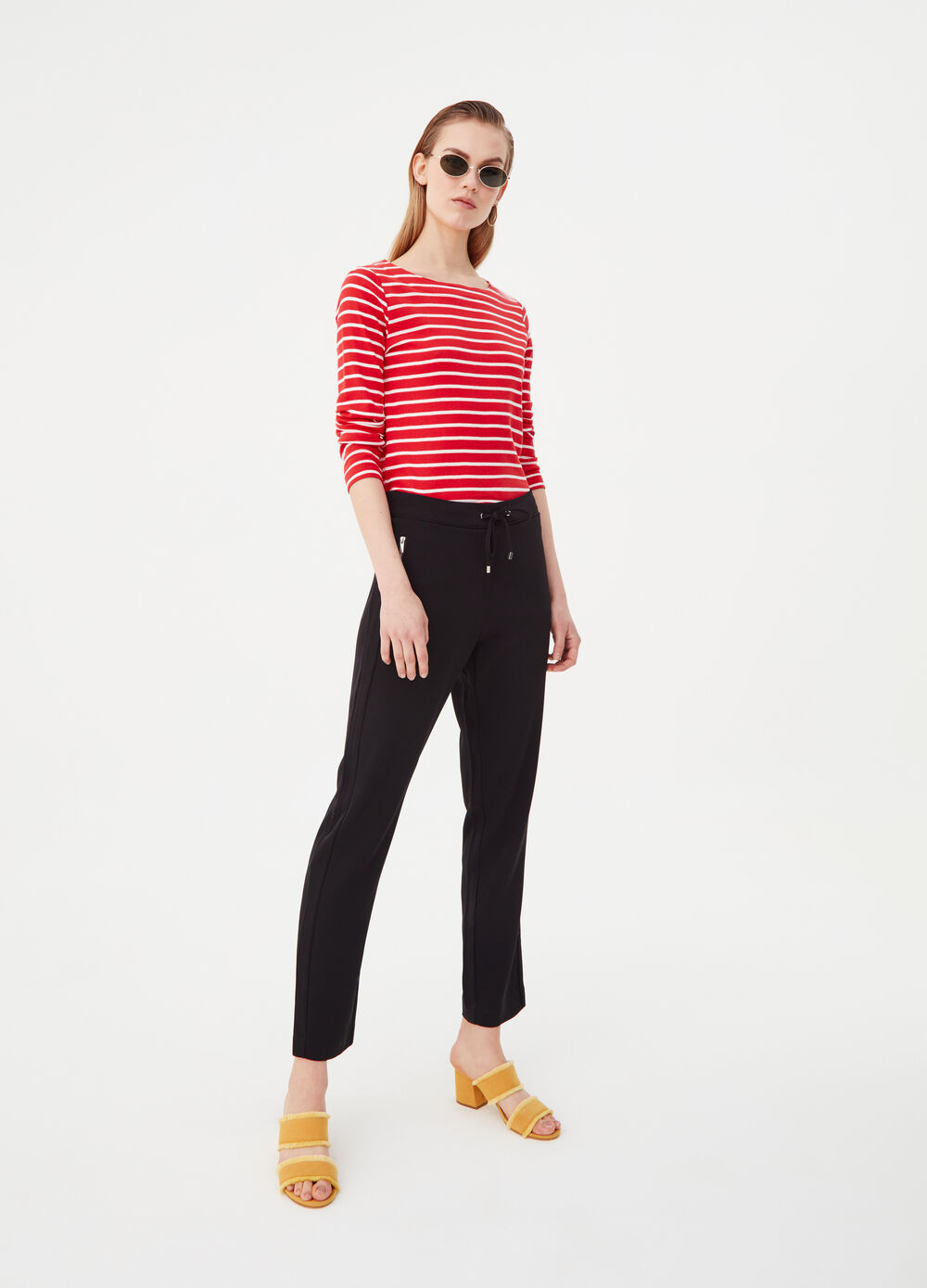 Stretch jogging trousers with pockets
