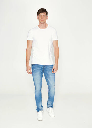 Jeans slim fit effetto used