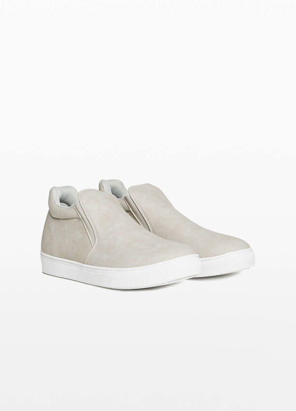 High-top slip-ons with elasticated bands