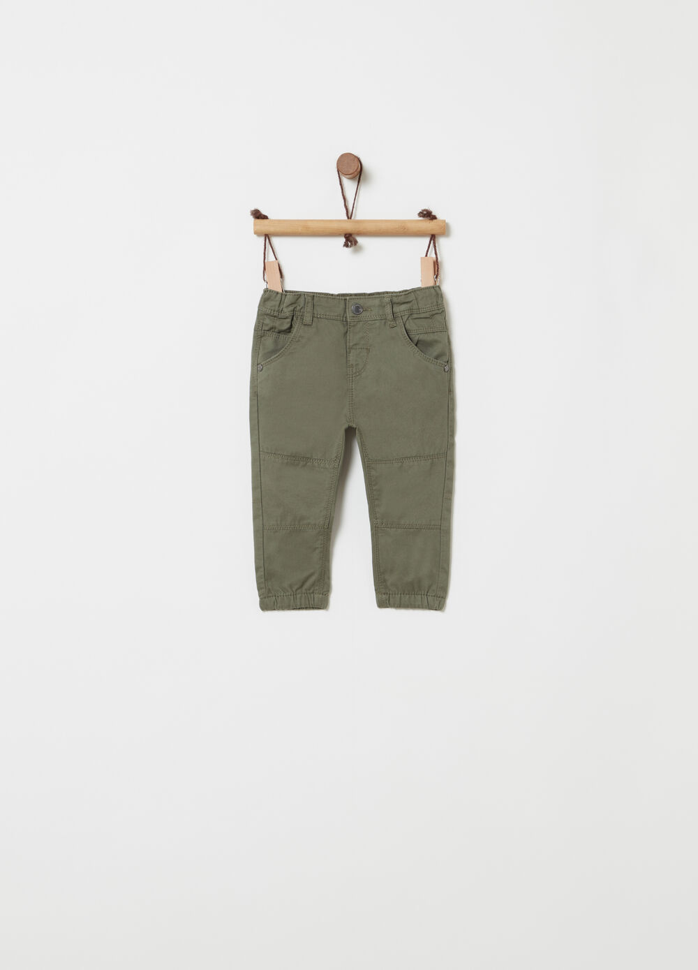 100% cotton twill stretch trousers