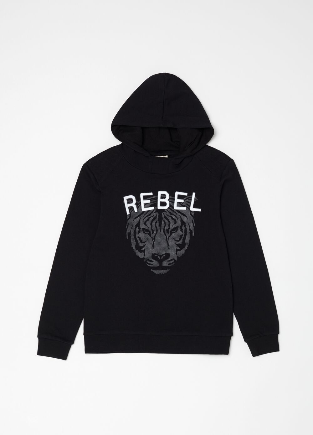 French terry sweatshirt with rubber print