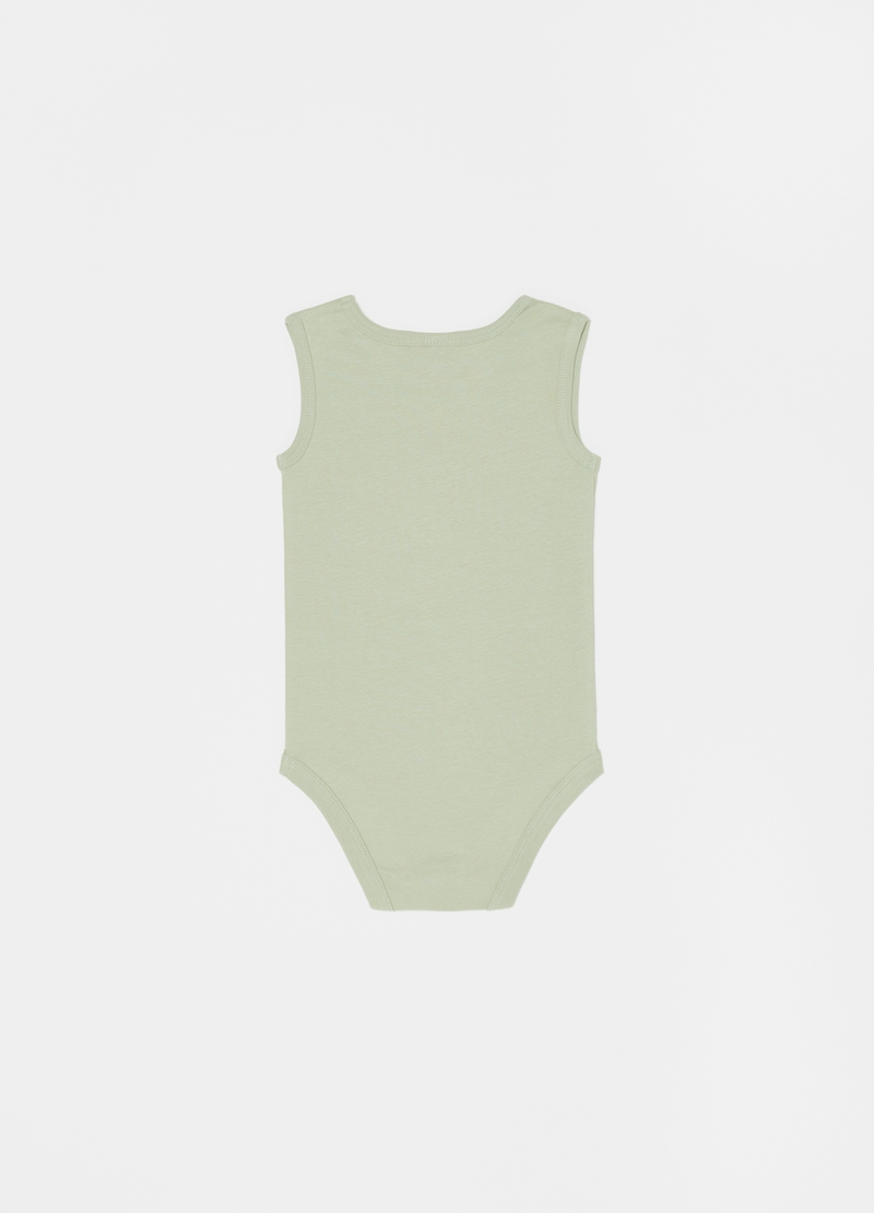 Set cinque body in cotone stampa animaletti image number null