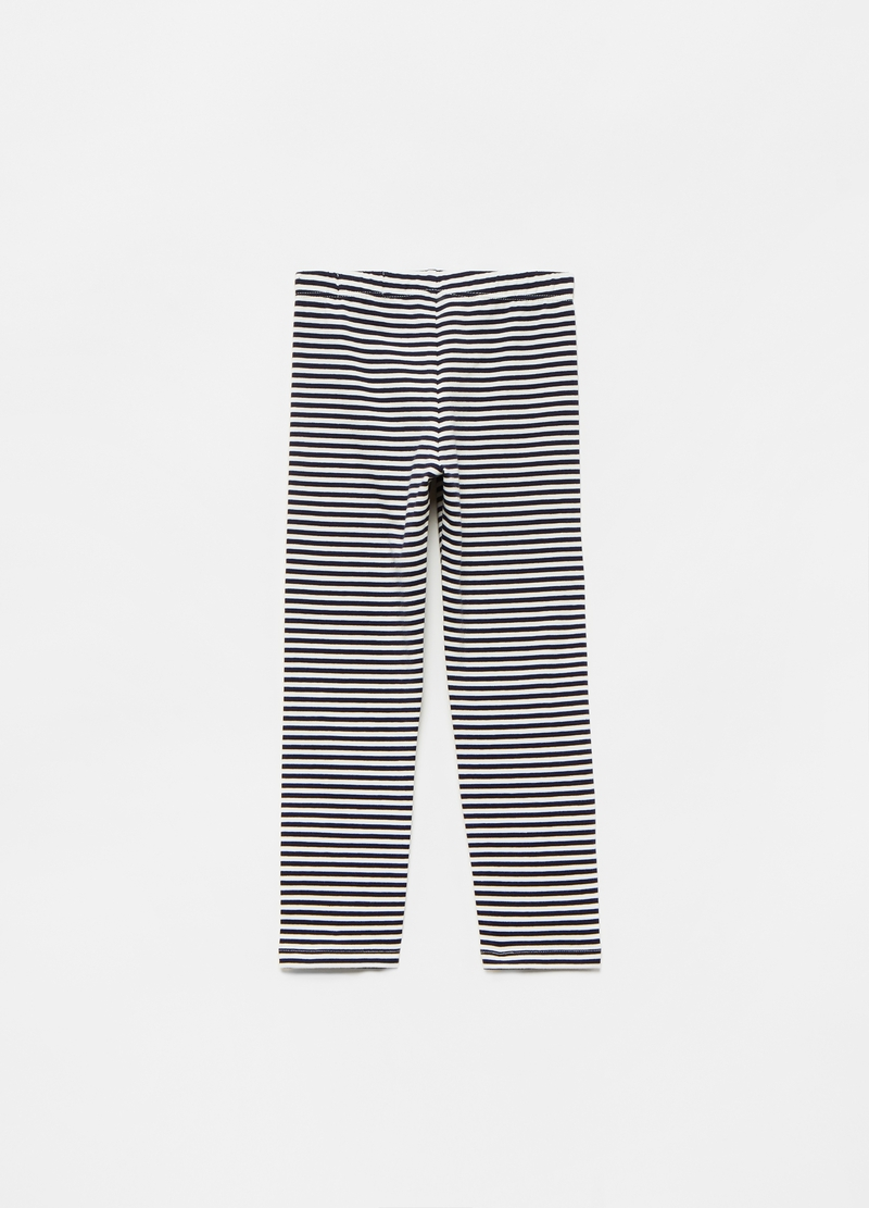 Leggings stretch stampa a righe all-over image number null