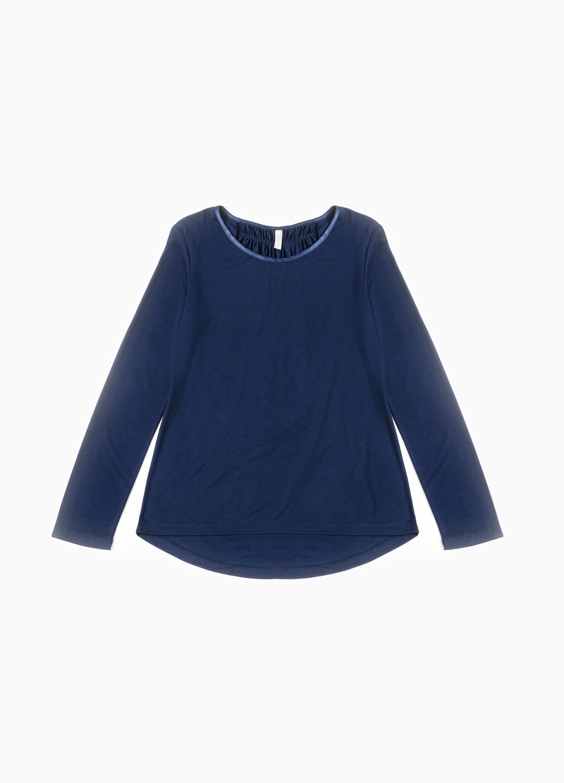 Pyjama top with pleated motif image number null