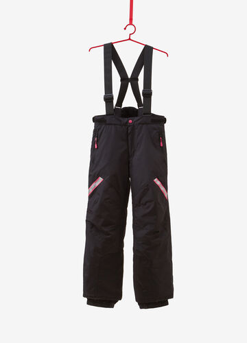 Ski trousers with contrasting bands